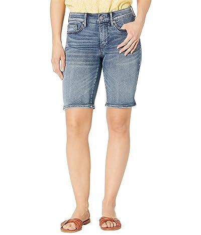 NYDJ Petite Petite Briella Denim Shorts in Monet Blue Women