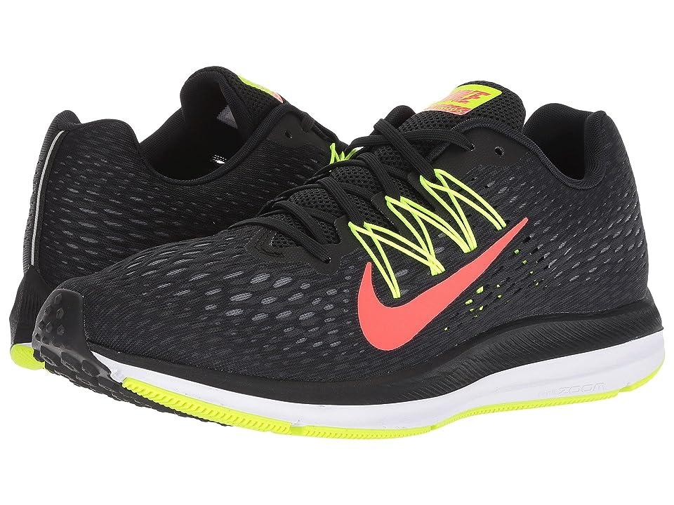 Nike Air Zoom Winflo 5 (Black/Bright Crimson/Volt/Anthracite) Men