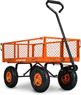 Sponsored Ad – SuperHandy Wagon Utility Cart Hand Truck Manual Heavy Duty Lawn Garden with Removable Side Meshes 400 lbs M...