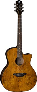Luna Gypsy Grand Auditorium Acoustic Guitar, Exotic Spalt