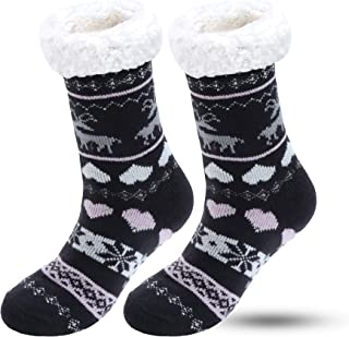 QINCAO Socken Damen Herren Warme Winter Thermosocken Wintersocken Kuschelsocken Dicke Weihnachtssocken 2 Paar