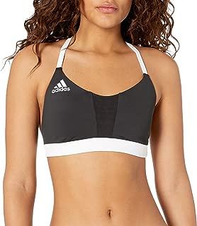 Womens adidas bikini Performance girls striped halter neck Bikini Set