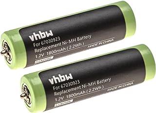 vhbw 2 x accu compatibel met Braun 81678912, 81691736, 81695841, 81695861, 81695862 scheerapparaat tondeuse (1800 mAh, 1,2...