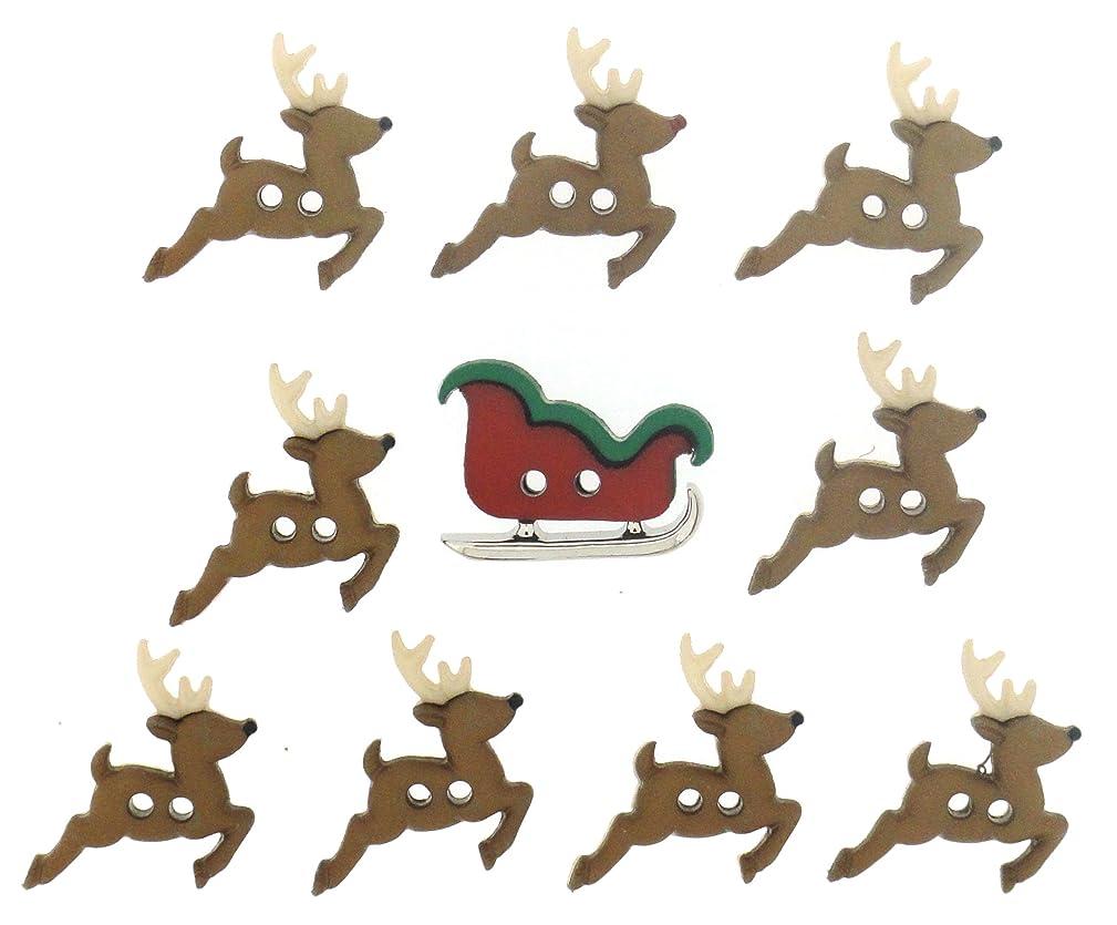 Dress It Up 7590 Sew Cute Sleigh/Reindeer