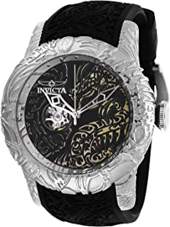 Men's S1 Rally Stainless Steel Automatic-self-Wind Watch with Silicone Strap, Black, 26 (Model: 26429)