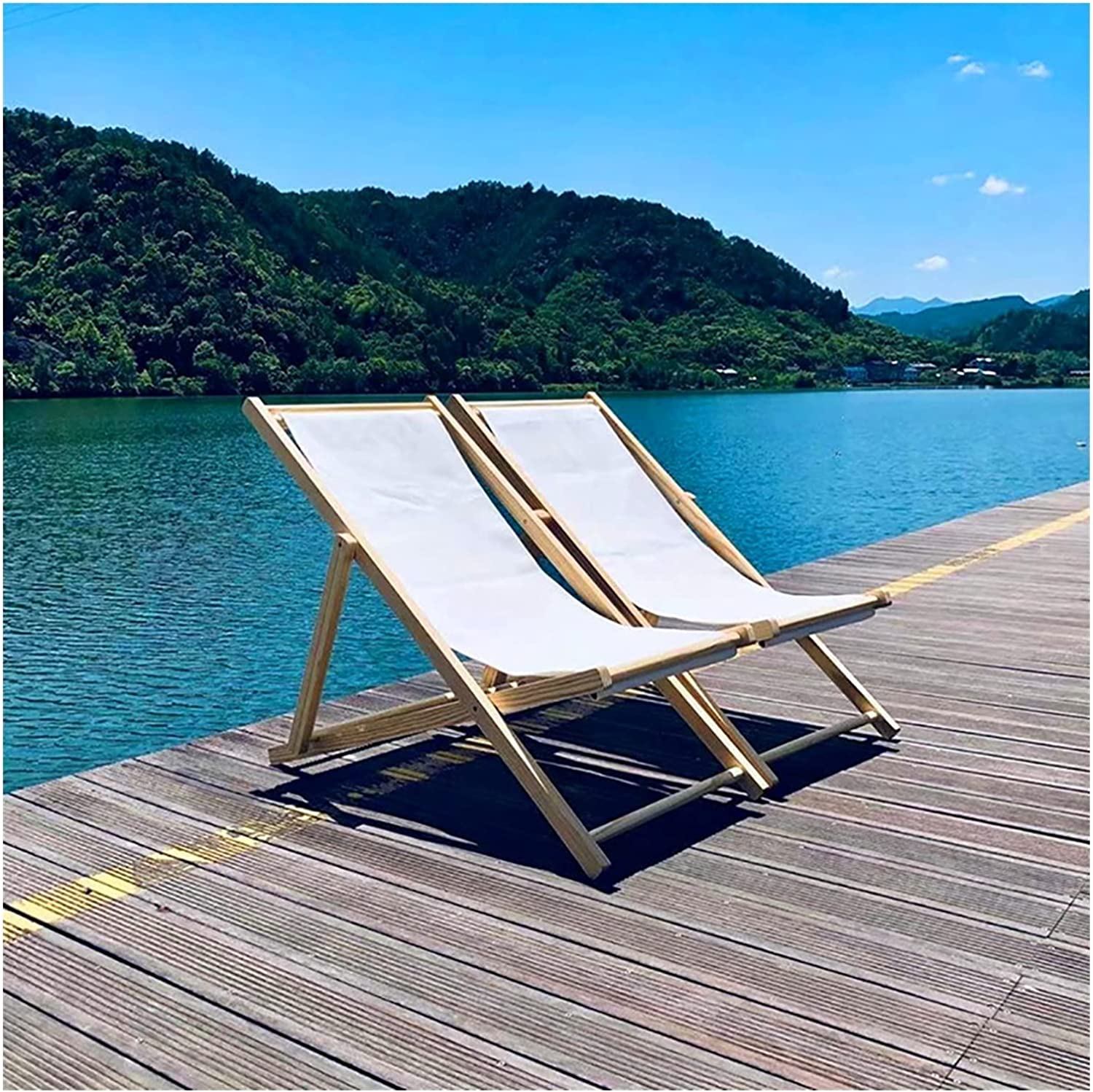 Folding Sling Chairs Set Portable Patio Foldable Popularity Outside Today's only