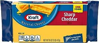 Kraft Sharp Cheddar Cheese Block, 16 oz Wrapper
