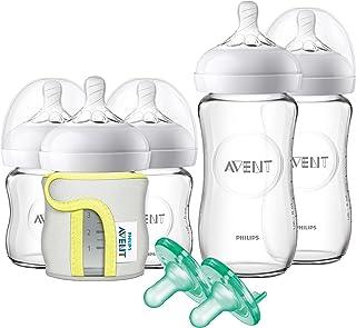 Philips AVENT 飞利浦 新安怡 天然玻璃奶瓶婴儿礼品套装,SCD201 / 01