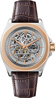 Ingersoll - The Orville Automatic Mens Watch with Skeleton Dial and Brown Leather Strap I09301