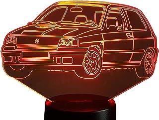 RENAULT CLIO WILLIAMS, Lampada illusione 3D con LED - 7 colori.