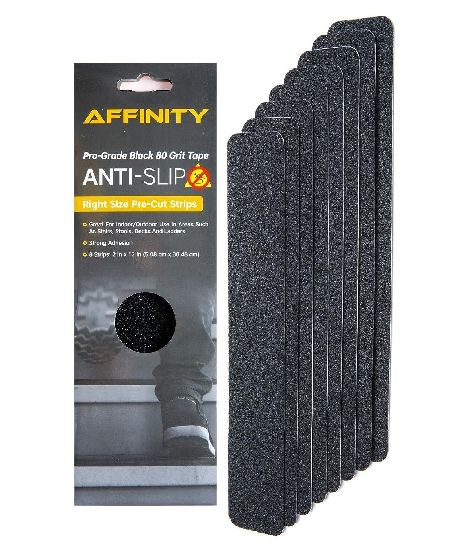 Anti-Slip Tape - cheap Premium 8 Pre-Cut Black 80 Strips Grit Bargain Slip Re