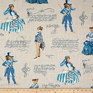 P Kaufmann Belle of the Ball Linen Fabric, Persian Blue, Fabric By The Yard