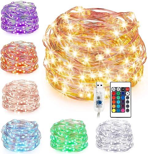 Guirlande Lumineuse LED 16 Couleur, Kohree 10M USB LED Girlande de Lumière pour Chambre Enfant Interieur Fairy lights...