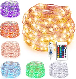 Guirlande Lumineuse LED 16 Couleur, Kohree 10M USB LED Girlande de Lumière pour Chambre Enfant Interieur Fairy lights Etan...