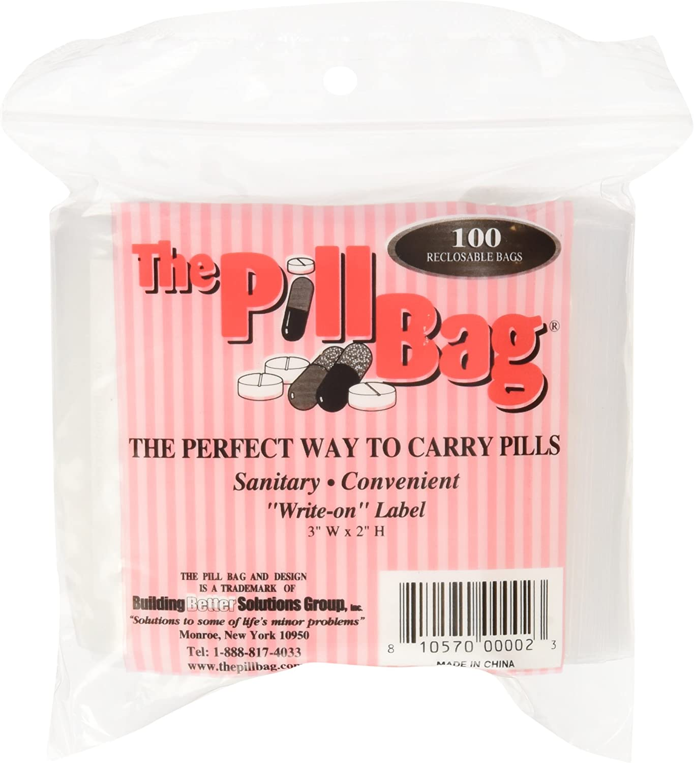 The Pill Bag 100 Count Size Fashionable 2
