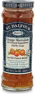 St. Dalfour Orange Marmalade All Natural Ingredients 100% Fruit, 10oz (284g), 2 Pack