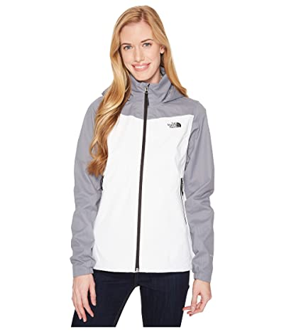 The North Face Resolve Plus Jacket (TNF White/Mid Grey Dobby) Women