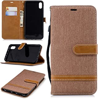 Color Matching Denim Texture Leather Case for Huawei Honor 6X, with Holder & Card Slots & Wallet & Lanyard Wallet Case Fli...