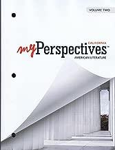 My Perspective California American Literature Grade 11 Volume 2