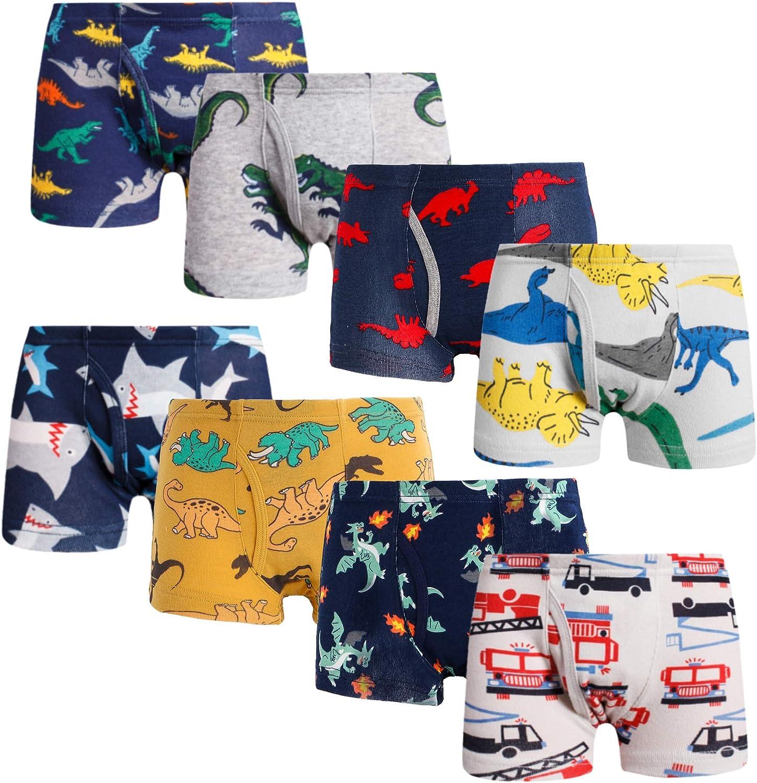 Little bety Baby Soft Cotton Boys Underwear Dinosaur Truck Toddler Kids Briefs