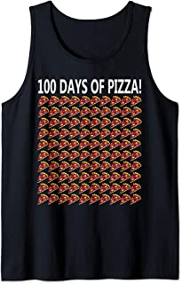 100th Day Of School Shirt Funny 100 Pizza Gift Student Girl Tank Top