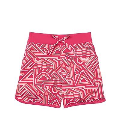 Columbia Kids Sandy Shores Boardshorts (Toddler) (Cactus Pink/Geo Elements/Cactus Pink) Girl