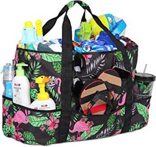 Mesh Beach Bag, Ricdecor Toy Tote Bag Stay Away from Sand for The Beach with Zipper Top and Insulated Picnic Cooler