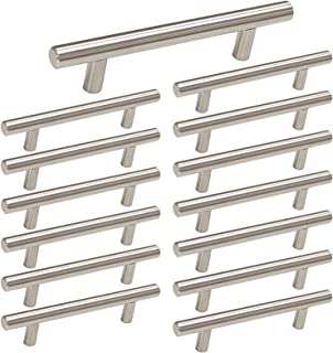 Best homdiy Cabinet Handles Brushed Nickel Drawer Pulls - HD201SN Cabinet Hardware Stainless Steel Kitchen Cupboard Handles Cabinet Handles,15 Pack 3-1/2in Hole Centers Handles for Dresser Drawers Reviews