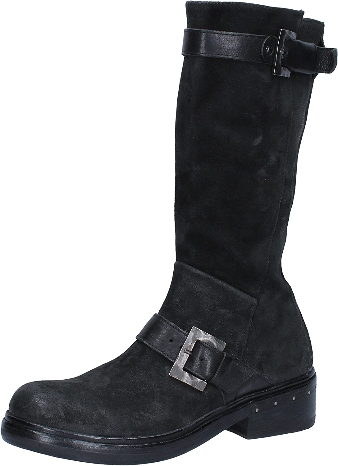 MOMA Boots Womens Suede Black