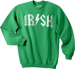 Irish Rockstar Funny Music St Patricks Day Unisex Crew Neck Sweatshirt for Paddys Day
