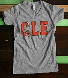 Cleveland Football Women's Fitted V Neck Shirt