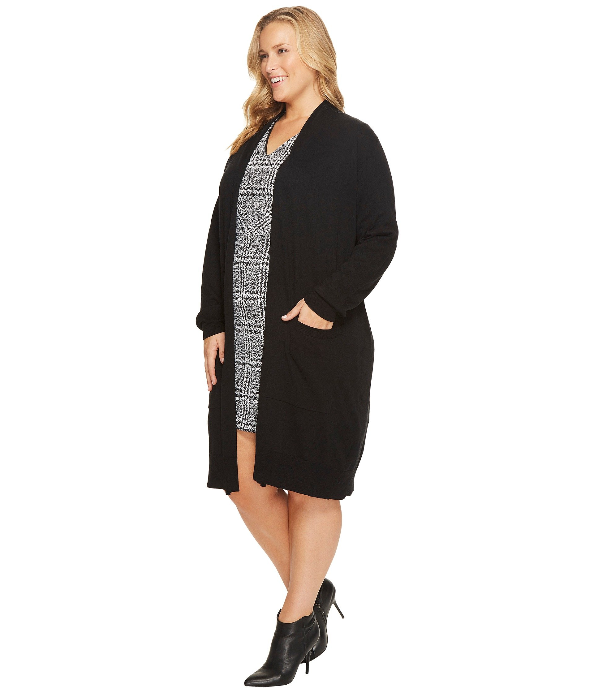 MICHAEL Michael Kors Plus Size Extra Long Easy Cardi at Zappos.com