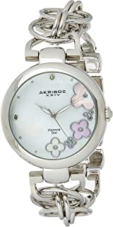 ساعة كوارتز اكريبوس XXIV المزخرفة للنساء بسوار من خليط معدني وعرض انالوج