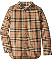 Burberry Kids - Fredrick Long Sleeve Pocket Shirt (Little Kids/Big Kids)