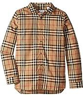 Burberry Kids - Fredrick Long Sleeve Pocket Shirt (Little Kids/Big Kids)