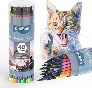 KuiiBoii 48 مداد رنگی ، مناسب برای بزرگسالان ، کودکان و کتابهای رنگ آمیزی ، لوازم نقاشی با مداد طراحی هنرمند.