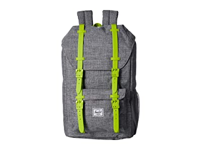 Herschel Supply Co. Kids Little America (Youth) (Raven Crosshatch/Lime Green) Backpack Bags