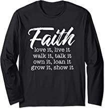 Faith Love It Live It Thanksgiving Autumn Fall Lover Top Long Sleeve T-Shirt