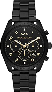 Michael Kors Men's Keaton Quartz Watch with Stainless-Steel-Plated Strap, Black, 22 (Model: MK8684)
