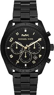 Michael Kors Men's Keaton Quartz Watch with Stainless-Steel-Plated Strap, Black, 22 (Model: MK8684)