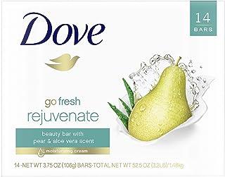 Dove go Beauty Bar مرطوب کننده تر از بار معمولی صابون جوان کننده گلابی و رایحه آلوئه ورا 3.75 اونس 14 میله