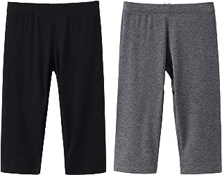 2 Pack Modal Girls Leggings Capri Solid Pant for School/Holiday