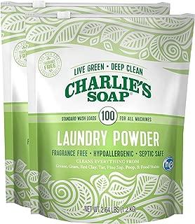 Charlie's Soap - Unscented Powder Laundry Detergent 100 Loads (2.64 lb, 2 Pack)