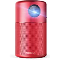 Nebula Capsule Smart Mini Projector Portable Pocket Cinema Wi-Fi DLP (Red)