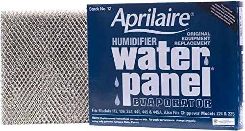 Aprilaire 12 Replacement Water Panel for Aprilaire Whole House Humidifier Models 112, 224, 225, 440, 445, 448 (Pack o...