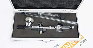 Badger Renegade Krome 2in1 Gravity Feed Double Action Airbrush in case with 0.21 and 0.33mm Nozzle Sets RK-1. by SprayGunner