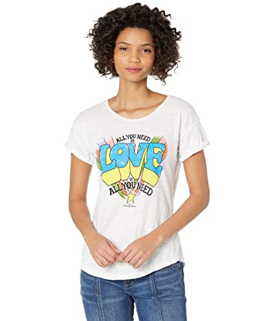 The Original Retro Brand Rolled Short Sleeve All You Need Is Love Tee