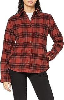Carhartt Women's Hamilton Plaid Flannel Shirt Jac Jacket, Redwood, XS