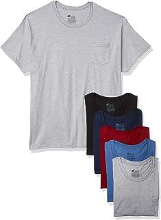 Men's ComfortSoft Tagless Pocket T's, 6 Pack