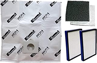 12 Kenmore Type C or Type Q Allergen Filtration Canister Vacuum Bags, (2) Kenmore CF1 81002 Motor Chamber Filter, (2) Kenmore EF1 86889 HEPA Exhaust Filters, Fits Progressive, Intuition, Canisters